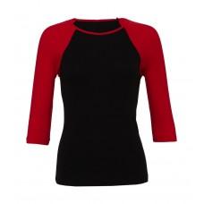 3/4 Sleeve Contrast Raglan T-Shirt [barvna]