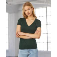 Women`s Triblend Deep V-Neck T-Shirt [TRI]