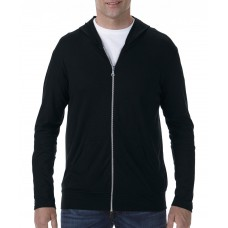 Adult Tri-Blend Full Zip Hooded Jacket  [barvna]