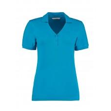 Women`s Regular Fit Comfortec® V Neck Polo [barvna]