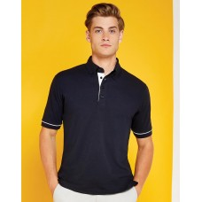 Classic Fit Button Down Contrast Polo Shirt [barvna]