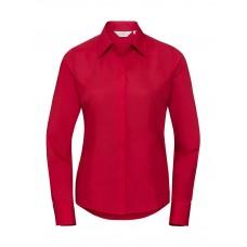 Ladies` LS Fitted Poplin Shirt [barvna]