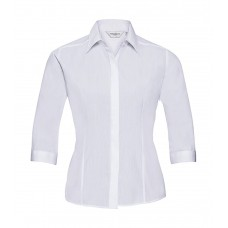 3/4 sleeve Poplin Shirt [barvna]