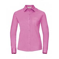 Ladies` Cotton Poplin Shirt LS [barvna]