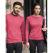 Ladies` Crew Neck Knitted Pullover [barvna]