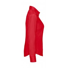Ladies Poplin Shirt LS [barvna]