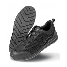 All Black Safety Trainer - size 3 [barvna]