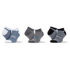 3-Pack Mixed Stripe Sneaker Socks [barvna]