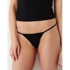 Cotton Spandex Thong Bikini [barvna]